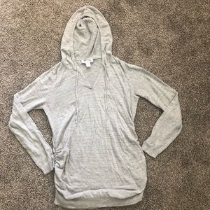 Motherhood maternity hooded sweater